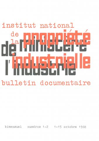 Couverture PIBD 1968 © INPI