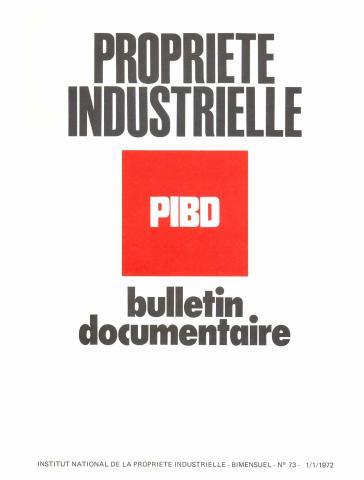 Couverture PIBD 1972 © INPI