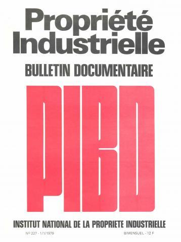 Couverture PIBD 1979 © INPI