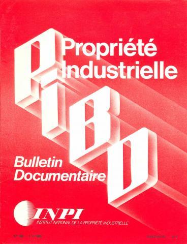 Couverture PIBD 1985 © INPI