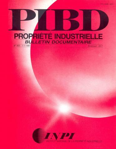 Couverture PIBD 1987 © INPI