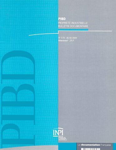 Couverture PIBD 1995 © INPI