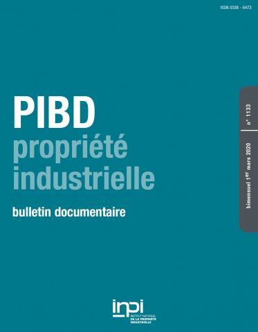 Couverture PIBD 1133 © INPI