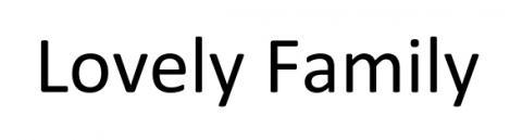 """Marque Lovely Family n° 4 250 512 déposée au nom de Madame A, agissant pour le compte de la société """"Lovely Family"""" en cours de formation"""