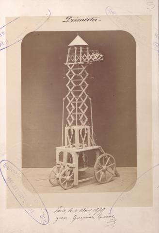 Brevet d'invention n° 132509 déposé le 4 août 1879 par Jean Gueunier-Lauriac pour un appareil de secours et de sauvetage en cas d'incendie, pouvant également s'appliquer à l'industrie et à l'agriculture