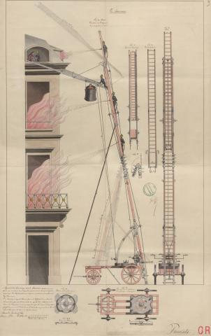 Brevet d'invention n° 1299 déposé le 15 avril 1845 par le baron Dirck Van Lockhorst pour un appareil de sauvetage