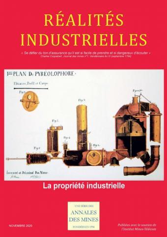 Couverture du numéro de Réalités industrielles sur la propriété industrielle © Annales des Mines