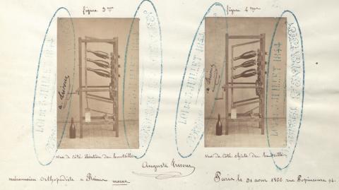 Brevet n° 72786 déposé le 1er septembre 1866 par Auguste-Henri Tricout pour un appareil à démasquer les vins de Champagne, dit machine Tricout, à électriser, tourner et secouer les bouteilles (1BB72786, archives INPI).